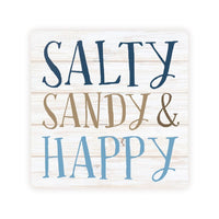 Absorbent Coaster - Salty Sandy & Happy