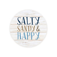 Absorbent Car Coaster - Salty Sandy & Happy