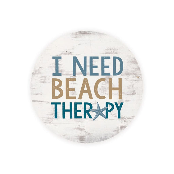 Absorbent Car Coaster - I Need Beach Therapy