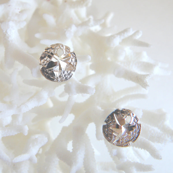 Sterling silver sand dollar stud (post) earrings