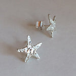 Sterling silver Starfish Stud Earrings (cut)