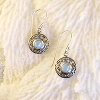 Larimar & Sterling Silver Earrings L1803