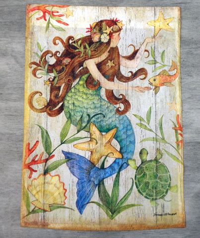 Flag- Garden Size - Mermaid with Starfish
