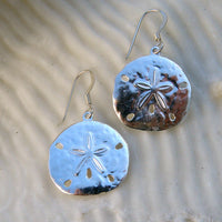 Sterling silver Sanddollar Earrings