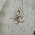 Sterling silver Star Starfish Pendant