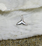 Sterling silver small whale tail charm