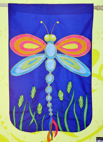 Flag- Regular Flagpole Size - Dragonfly Flag