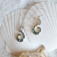 Abalone and Sterling Silver Curl Earrings 207