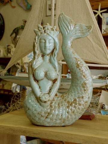 Aqua Ceramic Mermaid
