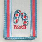 Beach House Tea Towel - Flip Flop
