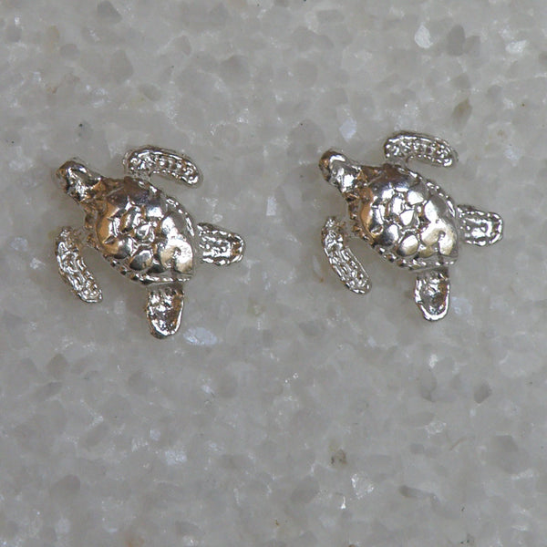 Sterling silver Sea Turtle small earrings