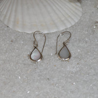 Mother of Pearl and Sterling Silver Teardrop Earrings ES70MP