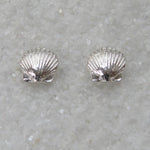 Sterling silver scallop stud (post) earrings small
