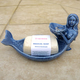 Mermaid Dish with Shell in Blue