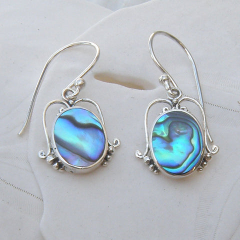 Abalone oval earrings  210A