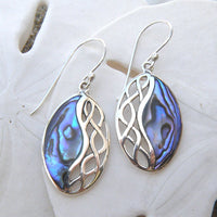 Abalone drop earrings 219