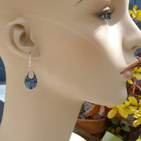 Abalone teardrop earrings 201
