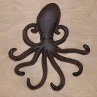 Octopus wall hook - brown