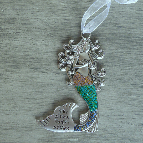Salty Kisses Starfish Wishes Mermaid Hanging Figurine