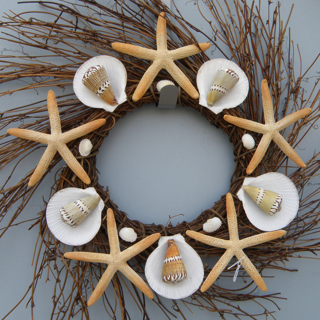 Wreath - Seashell and ombre starfish wreath