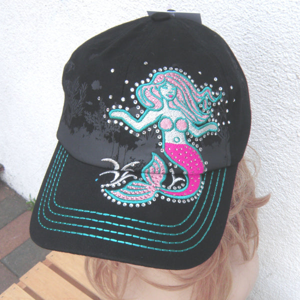 Mermaid Bling Hat Black