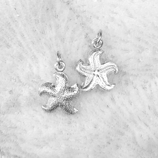 Sterling silver Puffy Starfish Pendant