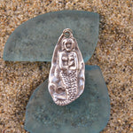 Sterling Silver Oxidized Vertical Mermaid Pendant