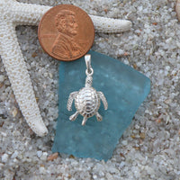 Sterling silver Sea Turtle Charm with movable legs