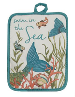 Seas the Day Mermaid Hot Pad