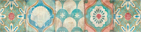 Cloth Table Runner - Bohemian Sea Tiles