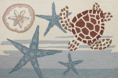 Indoor Floor Mat - Coastal turtle by Audrey Jean Roberts