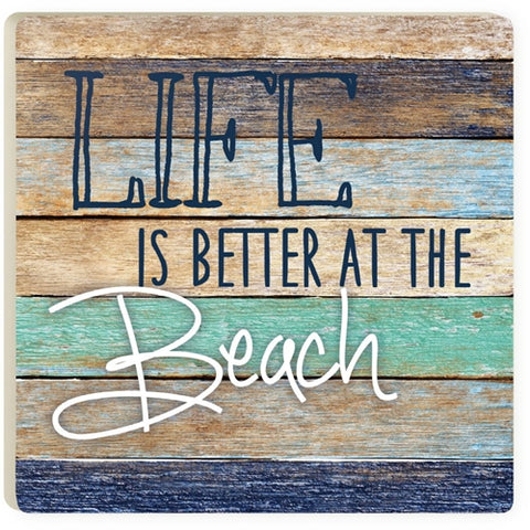 Absorbent Coaster - Life is better at the Beach