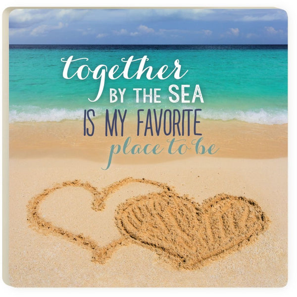 Absorbent Coaster - Together by the Sea