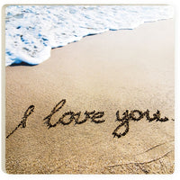 Absorbent Coaster - I love you