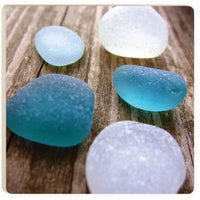 Absorbent Coaster - Sea Glass on planks