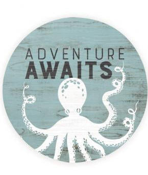 Absorbent Car Coaster - Octopus Adventure Awaits