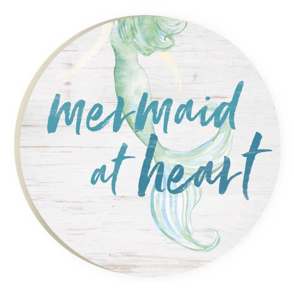 Absorbent Car Coaster - Mermaid at heart