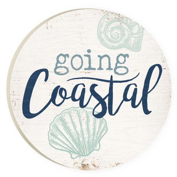 Absorbent Car Coaster - Going Coastal