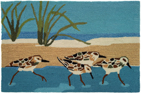 Indoor Rug or Floor Mat - Oceanside Sandpipers