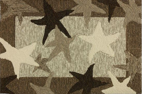 Indoor Outdoor Rug or Floor Mat - Starfish Seastar Field