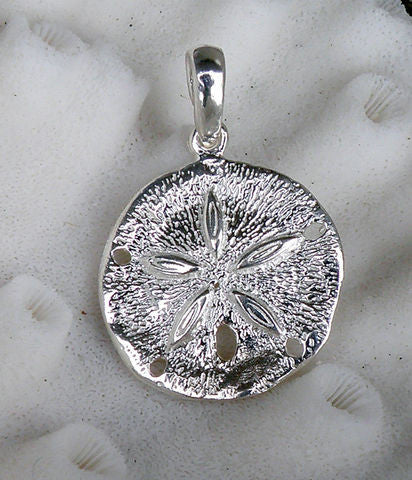 Sterling silver Sand dollar Pendant Charm