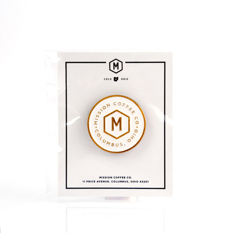 WHITE MISSION LOGO PIN