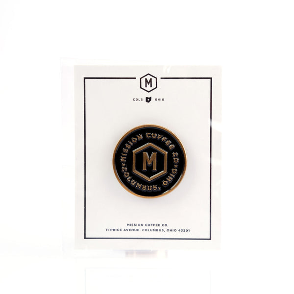 BLACK MISSION LOGO PIN