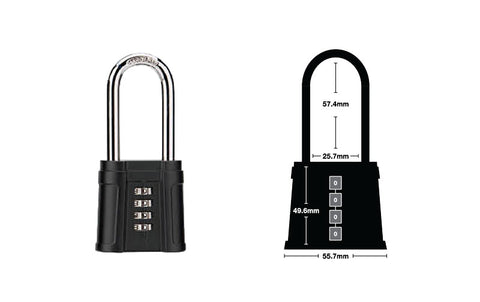 Long Shackle Combination Lock