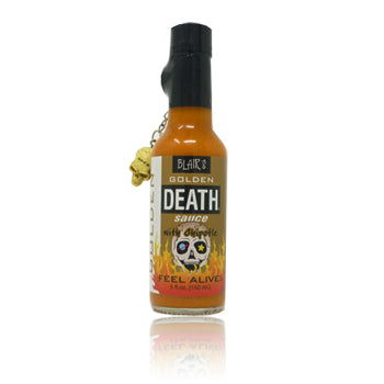 Blair's Golden Death hot sauce with chipotle