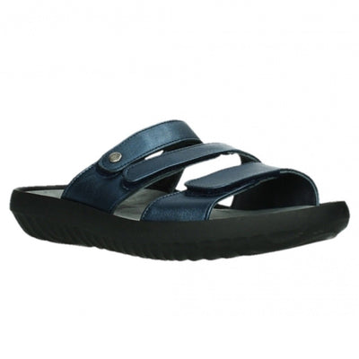 Wolky, Sense, Slide, Leather, 85 800 Blue Sandals Wolky 85 800 Blue 37