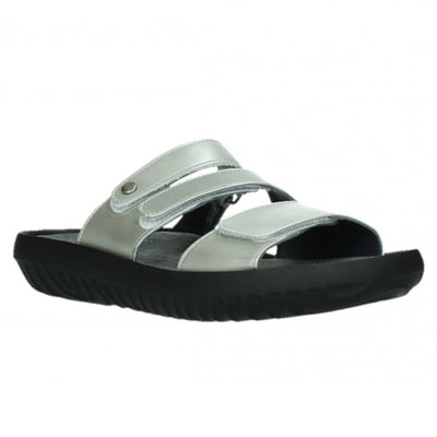 Wolky, Sense, Slide, Leather, 85 130 Silver Sandals Wolky 85 130 36