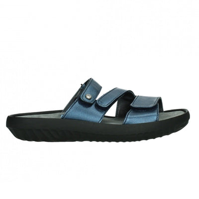 Wolky, Sense, Slide, Leather, 85 800 Blue Sandals Wolky