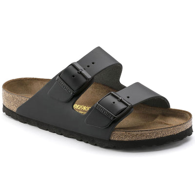 Birkenstock Classic, Arizona, Regular Fit, Smooth Leather, Black Sandals Birkenstock Classic Black 45
