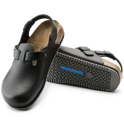 Birkenstock Professional, Tokio, Super Grip Sole, Regular Fit, Leather, Black Clogs Birkenstock